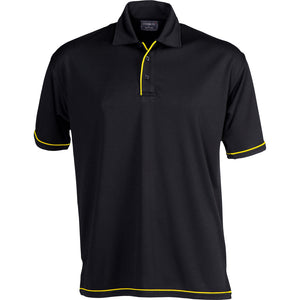 The Cool Dry Polo | Mens | Black/Gold