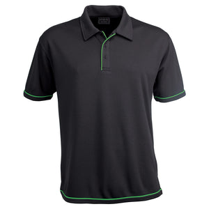 The Cool Dry Polo | Mens | Charcoal/Lime