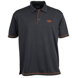 The Cool Dry Polo | Mens | Charcoal/Orange