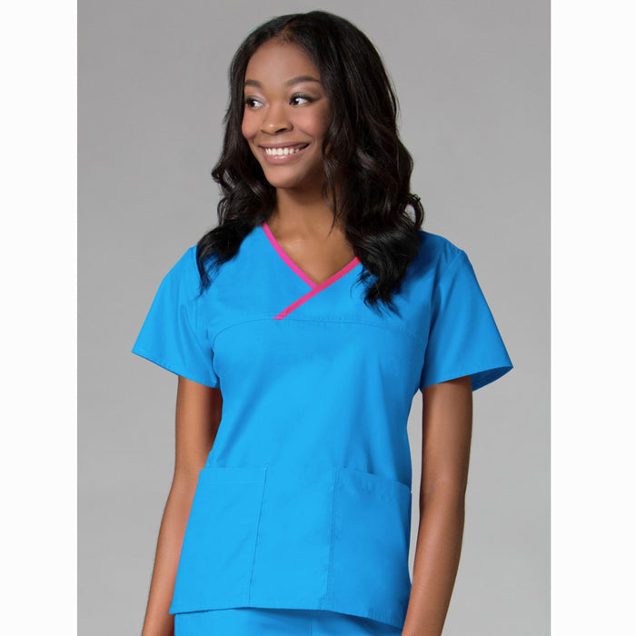 The Core Contrast Wrap Scrub Top | Ladies | Plus