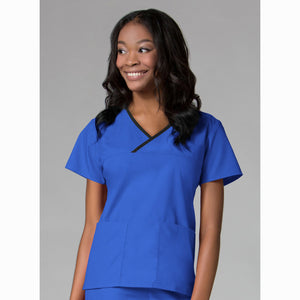 Core Contrast Wrap Scrub | Royal