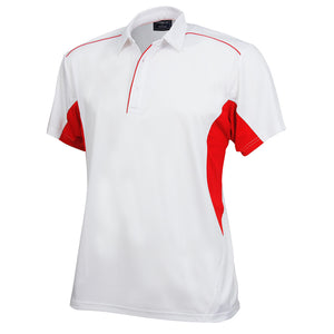 The Freshen Polo | Mens | Short Sleeve | White/Red