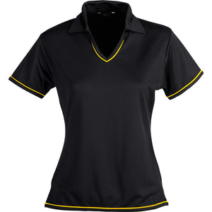 The Cool Dry Polo | Ladies | Black/Gold