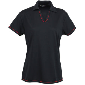The Cool Dry Polo | Ladies | Black/Red