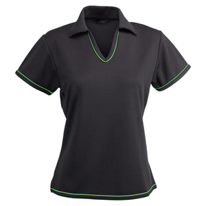 The Cool Dry Polo | Ladies | Charcoal/Lime