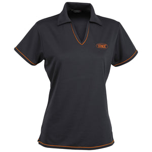 The Cool Dry Polo | Ladies | Charcoal/Orange