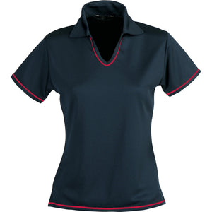 The Cool Dry Polo | Ladies | Navy/Red