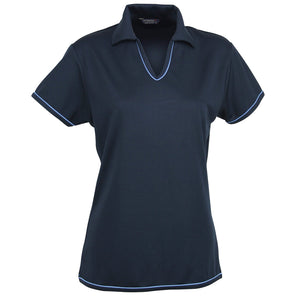 The Cool Dry Polo | Ladies | Navy/Bimini Blue