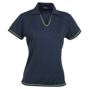 The Cool Dry Polo | Ladies | Navy/Lime