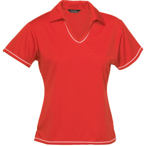 The Cool Dry Polo | Ladies | Red/White