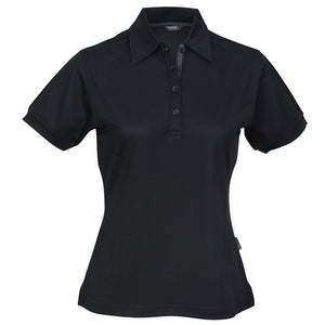 The Superdry Polo | Ladies | Black/Charcoal