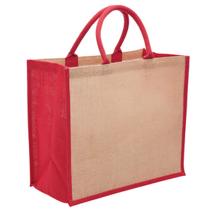 The Eco Jute Tote Bag | Red
