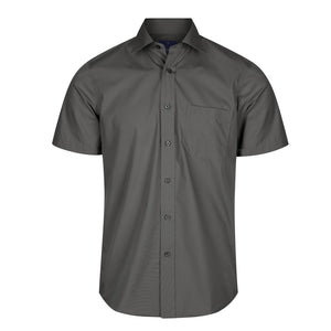 The Nicholson Shirt | Mens | Short Sleeve | Charcoal