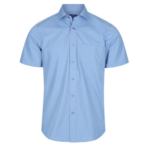 The Nicholson Shirt | Mens | Short Sleeve | French Blue