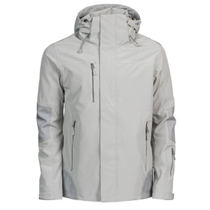 The Island Block Jacket | Mens | Light Grey