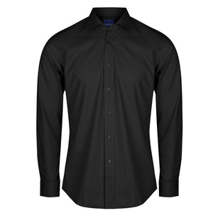 The Nicholson Shirt | Mens | Slim Fit | Long Sleeve | Black