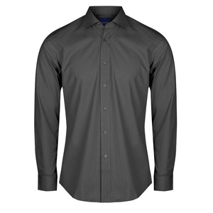 The Nicholson Shirt | Mens | Slim Fit | Long Sleeve | Charcoal