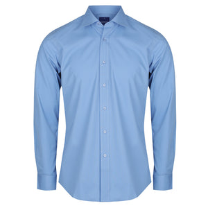 The Nicholson Shirt | Mens | Slim Fit | Long Sleeve | French Blue