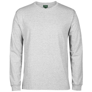 The Rib Crew Neck Tee | Mens | Long Sleeve | Snow Marle