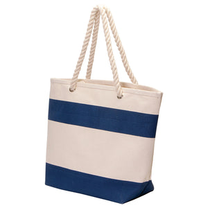 The Soho Cotton Canvas Tote | Navy/Natural
