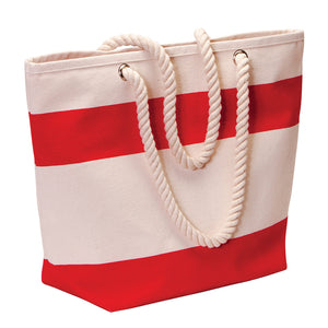 The Soho Cotton Canvas Tote | Red/Natural