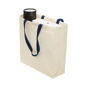 The Heavy Duty Canvas Tote | Navy/Natural