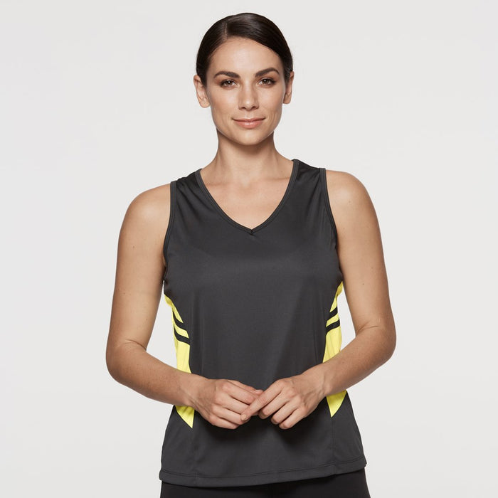 The Tasman Singlet | Ladies | Grey Base