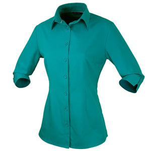 The Candidate Shirt | Ladies | 3/4 Sleeve | Teal