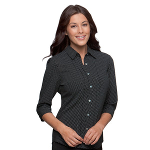 The Spot Shirt | Ladies | 3/4 Sleeve | Black
