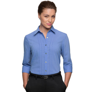 The Spot Shirt | Ladies | 3/4 Sleeve | Blue
