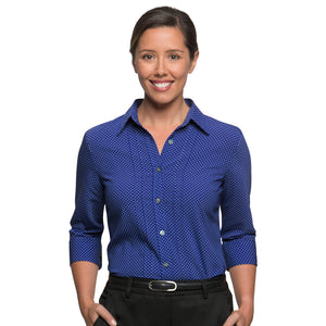 The Spot Shirt | Ladies | 3/4 Sleeve | Cobalt