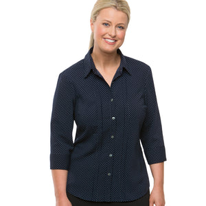 The Spot Shirt | Ladies | 3/4 Sleeve | Navy