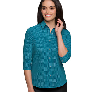The Spot Shirt | Ladies | 3/4 Sleeve | Teal