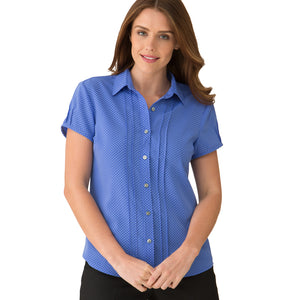 The Spot Shirt | Ladies | Short Sleeve | Blue