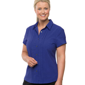 The Spot Shirt | Ladies | Short Sleeve | Cobalt