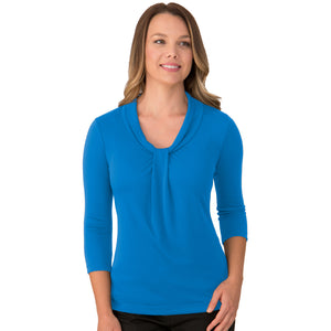 The Pippa Knit | Ladies | 3/4 Sleeve | Aqua