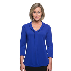 The Pippa Knit | Ladies | 3/4 Sleeve | Cobalt