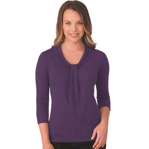 The Pippa Knit | Ladies | 3/4 Sleeve | Dark Lilac