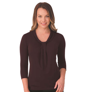 The Pippa Knit | Ladies | 3/4 Sleeve | Grape