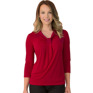 The Pippa Knit | Ladies | 3/4 Sleeve | Red