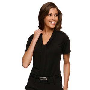 The Pippa Knit | Ladies | Short Sleeve | Black