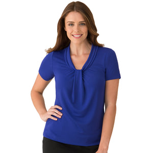The Pippa Knit | Ladies | Short Sleeve | Cobalt