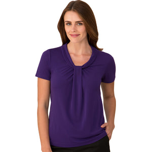 The Pippa Knit | Ladies | Short Sleeve | Dark Lilac