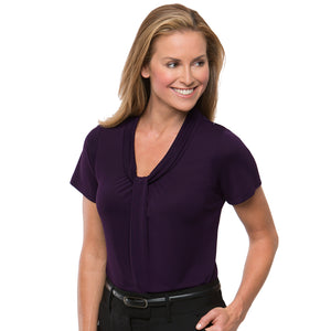 The Pippa Knit | Ladies | Short Sleeve | Grape