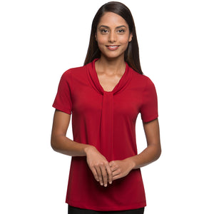 The Pippa Knit | Ladies | Short Sleeve | Red