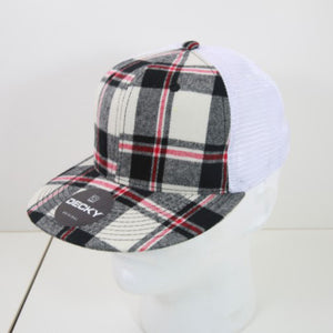 The Plaid Flat Bill Trucker Cap | Unisex