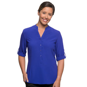 The So Ezy Shirt | Ladies | 3/4 Sleeve | Cobalt