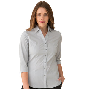 The Pin Feather Shirt | Ladies | 3/4 Sleeve | Charcoal