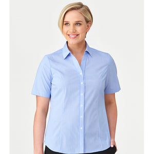 The Pin Feather Shirt | Ladies | Short Sleeve | Blue