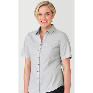 The Pin Feather Shirt | Ladies | Short Sleeve | Charcoal